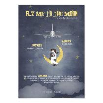 Fliegen Sie mich zur Hochzeit des Mond-2 - 12,7 X 17,8 Cm Einladungskarte