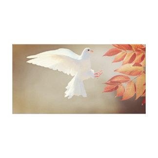 Fliegende Weißtauben-Leinwand Leinwanddruck