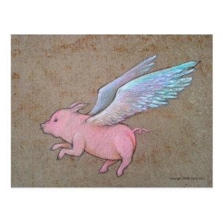 Fliegenschwein Postkarte