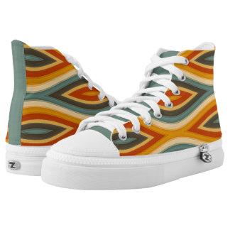 Flippige Wellen-Designer-Farbhohe Spitzen-Tritte Hoch-geschnittene Sneaker