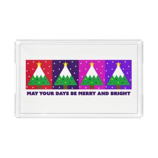 Flippiger fröhlicher und heller Weihnachtsbaum Acryl Tablett