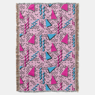 Flippiger lauter rosa Memphis-Entwurf Decke