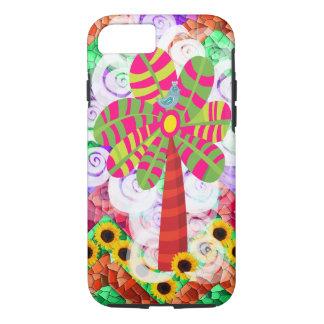 Flippiger Mosaik-Baum-Sonnenblume-Sommer iPhone 7 iPhone 8/7 Hülle