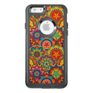 Flippiges Retro buntes Mandala-Muster OtterBox iPhone 6/6s Hülle