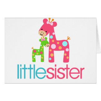 Flippiges T-Shirt der Giraffen-kleinen Schwester Karte