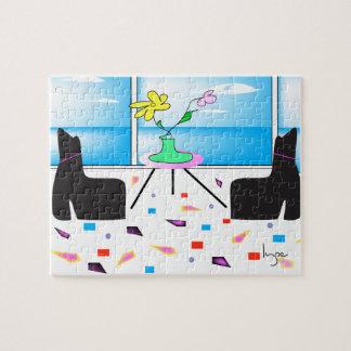 Flippiges wunderliches buntes Miami, Grafik Puzzle