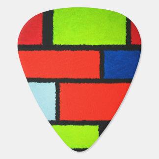 Flockiges Mondrian abstrakt - Orange Plek