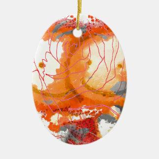 ©Floral Umarmungen durch Catherine Lott Ovales Keramik Ornament