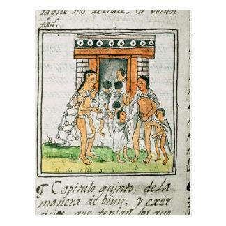 Florentinisches Codex durch Bernardino de Sahagun Postkarte