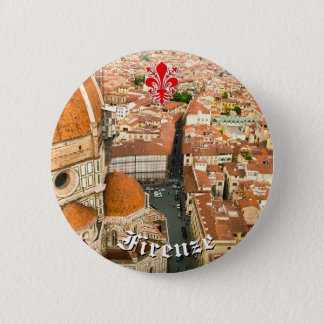 Florenz, Italien (Duomo) Runder Button 5,7 Cm