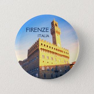 Florenz, Italien - Marktplatz della Signoria Runder Button 5,1 Cm