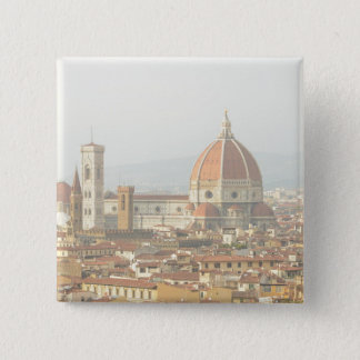 Florenz oder Firenze Italien Duomo Quadratischer Button 5,1 Cm