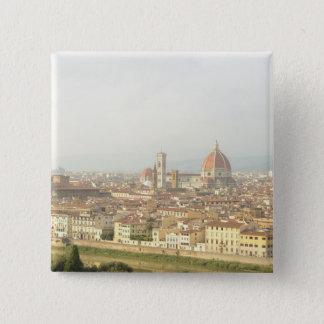Florenz- oder Firenzeitalien Stadtbild Quadratischer Button 5,1 Cm