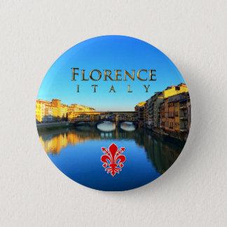 Florenz - Ponte Vecchio Runder Button 5,1 Cm