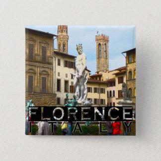 Florenz Quadratischer Button 5,1 Cm