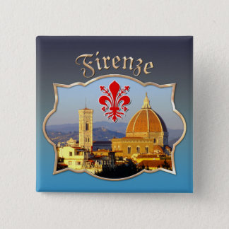 Florenz - Santa Maria Del Fiore Quadratischer Button 5,1 Cm