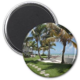 Florida befestigt amerikanischen Strand - Runder Magnet 5,1 Cm