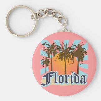 Florida der Sonnenschein-Staat USA Standard Runder Schlüsselanhänger
