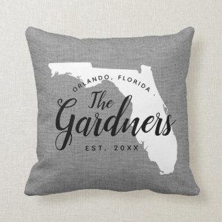 Florida-Familien-Monogramm-Staatthrow-Kissen Kissen