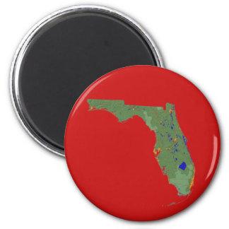Florida-Karten-Magnet Runder Magnet 5,7 Cm