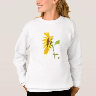 Florida-Sonnenblume stehend auf weißem Hintergrund Sweatshirt