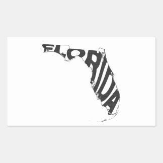 Florida-Staats-Namen-Wort-Kunst-Schwarzes Rechteckiger Aufkleber