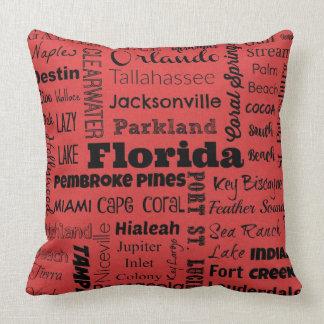 Florida-Stadttypographiekissen Kissen