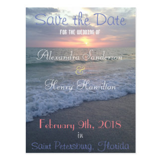 Florida-Strand-Sonnenuntergang Save the Date Postkarte