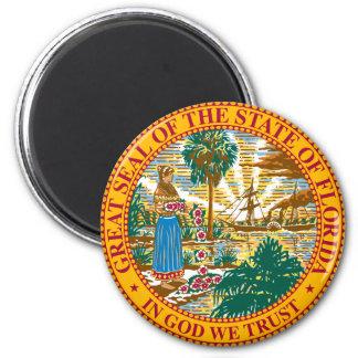 Florida-Wappen-Magnet Runder Magnet 5,7 Cm