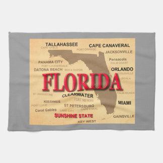 Floridagroßstadt-und -stadtStaatsstolz-Karte Geschirrtuch