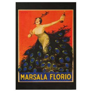 Florio Plakat Holzposter