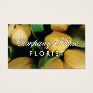 Floristengeschäftskartenschablone mit Tulpe-Blumen Visitenkarte