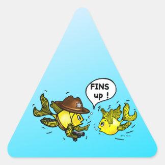 FLOSSEN OBEN unglaublich witzig lustige Hände up Stickers