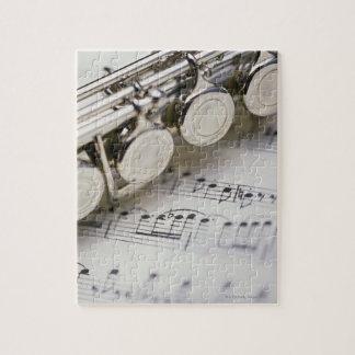 Flöte auf Noten Puzzle