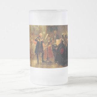 Flöten-Konzert mit Frederick das große Mattglas Bierglas