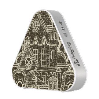 Flüchtiges Muster der alten Stadt auf dunklem Bluetooth Lautsprecher