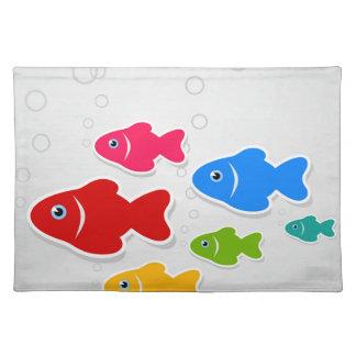 Flug von fishes3 stofftischset