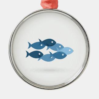 Flug von fishes5 silbernes ornament