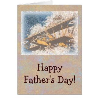 Flügel-der Vatertag oben Grußkarte