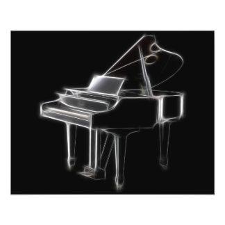 Flügels-klassisches Musikinstrument 11,4 X 14,2 Cm Flyer