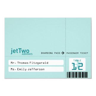 Flugticket-Tented Sitzplatz-Karte 8,9 X 12,7 Cm Einladungskarte