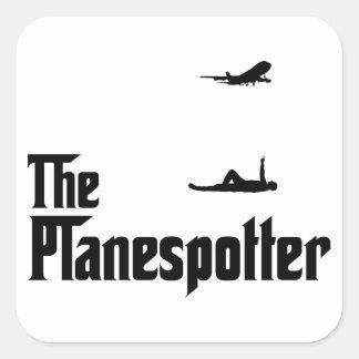 Flugzeug-Aufdeckung Quadrataufkleber