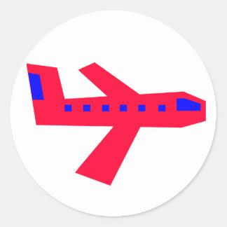 Flugzeug Runder Aufkleber