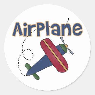 Flugzeug Runder Sticker