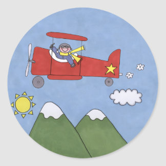 Flugzeug Runde Sticker