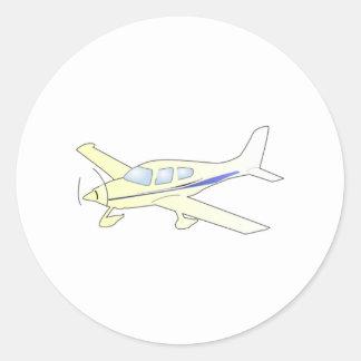 Flugzeug Runde Aufkleber