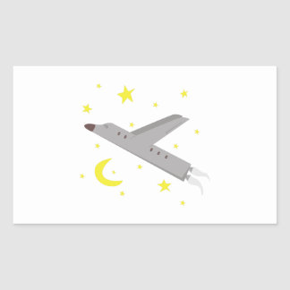 Flugzeug Rechteckiger Aufkleber