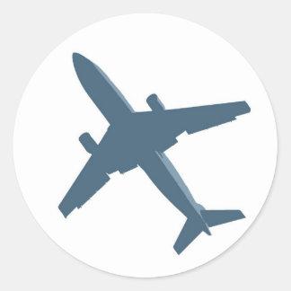 Flugzeug-Aufkleber Runder Aufkleber