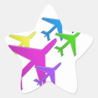 FLUGZEUG cadeaux gießen les enfants flotte d'avion Sternaufkleber