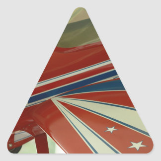 Flugzeug Dreiecks-Aufkleber